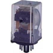Advance Controls 105872, Relay, 97 Series, H Duty,  DPDT, Blade Terminal, Octal, Push Test, 230 VAC