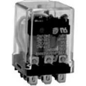 "Industrial Relay, 98 Series, Heavy Duty, Type DPDT, 3/16"" Blade, Push To Test And Light, 120 VAC"