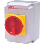 Enclosed 30 Amp Disconnect Switch, Class J, Type 12 Metal Enclosure