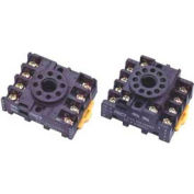 Socket For Relay, Non Latching, Type 4PDT, Use For 95 Series