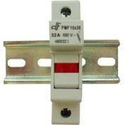 Advance Controls 152409 DIN Rail Fuse Holder (Midget), 1 Pole, Midget Fuse, Indicator Light