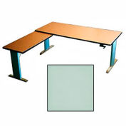 Accella™ Height Adjustable Left Return Desk - Gray