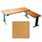 Accella™ Height Adjustable Left Return Desk - Oak