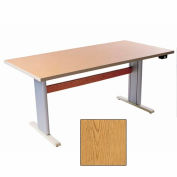 """Infinity™ Powered Height Adjustable Activity Table - 60""""L x 24""""W Oak"""
