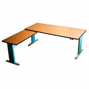Infinity™ Powered Height Adjustable Left Return Desk - Maple