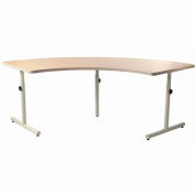 "Knob Adjusted Quarter Round Therashape Table - 85""L x 38""W Maple"