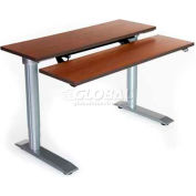 "Vox Bi-Level Workstation with Power Adjustment - 36""L x 30""W Living Teak"