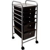 """Advantus® Organized 6 Drawer Cart  34005 - 15-1/2""""L x 13""""W x 32""""H, Smoke-Colored Drawers"""