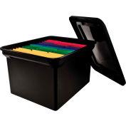 "Advantus® Plastic Letter & Legal File Tote 34052 - 18""L x 14""W x 10-3/4""H, Black"