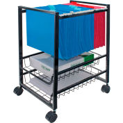 Advantus® 34075 Mobile File Cart with Sliding Baskets - Letter Sized Files
