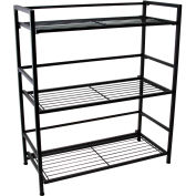 "FlipShelf Wide 37639DS,  26-1/2"" W x 12"" D x 30-1/2"" H, 3-Level Black"