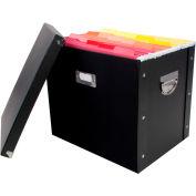 "Advantus® Heavy Duty Paperboard Letter Size File Box 63002 - 13""L x 9-3/4""W x 10-3/4""H, Black - Pkg Qty 4"