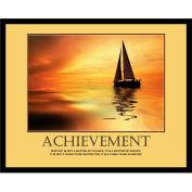 """Achievement Motivational Poster, Framed, 30"""" x 24"""""""