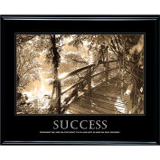 "Motivational Poster - Success - Sepia-tone - Framed - 30"" x 24"""