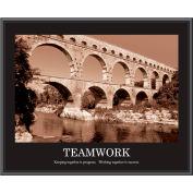 "Motivational Poster - Teamwork - Sepia-tone -  Framed - 30"" x 24"""