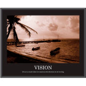 "Motivational Poster - Vision - Sepia-tone - Framed - 30"" x 24"""
