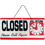 "Advantus® Open/Closed Sign with Hand Clock, 11-1/2 x 6"" - Pkg Qty 12"