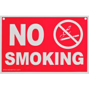 "Advantus® No Smoking Sign, Red/White, 12"" x 8"" - Pkg Qty 12"