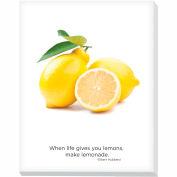 """Advantus® Canvas Motivational Print, 28""""W x 22""""H Breakroom Fruit, Lemons"""
