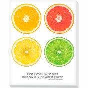 """Advantus® Canvas Motivational Print, 28""""W x 22""""H Breakroom Fruit, Citrus"""