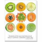"""Advantus® Canvas Motivational Print, 28""""W x 22""""H Breakroom Fruit, Diversity"""