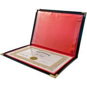 """Angler's® Holder, Certificate, 9"""" x 12"""", Black - Pkg Qty 12"""