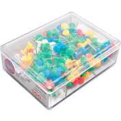 GEM Push Pins, Assorted Colors, 100/BX - Pkg Qty 10