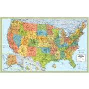 "Rand McNally M Series Deluxe USA Wall Map, Rolled, Laminated, 50"" x 32"""