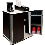 "Vertiflex VF35157 - Refreshment Center, 2 Shelf, Black, 29-1/2W x 21""D x 33-1/2""H"