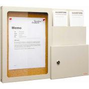Vertiflex Suggestion Box w/ Message Board, Putty