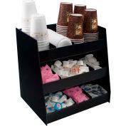 Vertiflex VFC-1515 - Vertical Condiment Organizer, 3 Shelves, 9 Compartments, Black