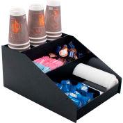 Vertiflex VFCC-1200 - Horizontal Condiment Organizer, 9 Compartments, Black