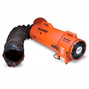 """Allegro COM-PAX-IAL Explosion Proof Blower With 15' Duct & Canister 9538-15, 8"""" Dia., 1/3HP, 900 CFM"""