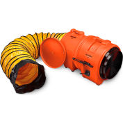 """Allegro Axial Blower With 25' Duct & Canister 9553-25, 16"""" Dia., 1HP, 3200 CFM"""