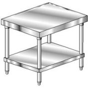 "Aero Manufacturing 2MGU-3030 14 Gauge Mixer Stand 304 Stainless Steel - Galv Frame/Shelf 30""W x 30""D"