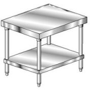 "Aero Manufacturing 2MSU-3024 14 Gauge Mixer Stand 304 Stainless Steel - with Undershelf 24""W x 30""D"