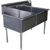 Premium SS Non-NSF Two Bowl Sink - 24 x 21