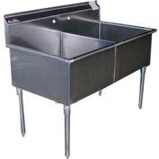 Premium SS Non-NSF Two Bowl Sink - 24 x 24