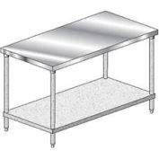 "Aero Manufacturing 3TG-3072 16 Gauge Deluxe Workbench 304 Stainless Steel - 72""W x 30""D"