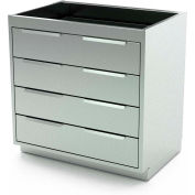 "Aero Manufacturing Stainless Steel Base Cabinet BC-3301 - 4 Drawers, 36""W x 21""D x 36""H"