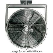 """Americraft 24"""" TEFC Alum Propeller Fan W/ 2 Way Swivel Yoke 24DAL-1/32Y-3-TEFC-1/3 HP 5300 CFM"""