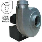 Americraft Aluminum Blower, HADP12-5-T-TE-CCWUB, 5 HP, 3 PH, TEFC, CCW, Upblast