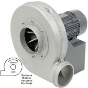 Americraft Aluminum Blower, HADP15-5-T-TE-CWBH, 5 HP, 3 PH, TEFC, CW, Bottom Horizontal