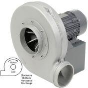 Americraft Aluminum Blower, HADP8-1/2-S-TE-CWBH, 1/2 HP, 1 PH, TEFC, CW, Bottom Horizontal
