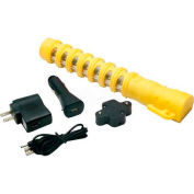 LED Baton Road Flare Safety Yellow Housing - Single Pack with Amber LEDs - Pkg Qty 4