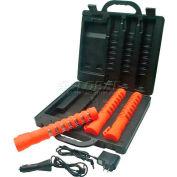 LED Baton Road Flare Kit Safety Orange Housing - 3-Pack Kit with Red LEDs - Pkg Qty 2