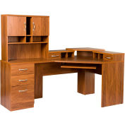 American Furniture Classics - Reversible Corner Workcenter W/Hutch, Autumn Oak