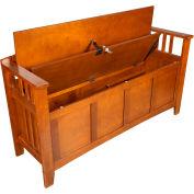 American Furniture Classics Entryway Gun Concealment Bench 504 - 5 Gun Capacity 54x17x31 Brown