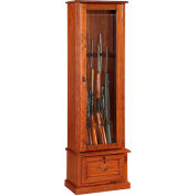 American Furniture Classics 600 Wood Gun Storage Cabinet  - 8 Guns