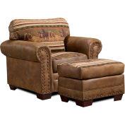 American Furniture Classics Wild Horses Ottoman, 100% Cotton Tapestry